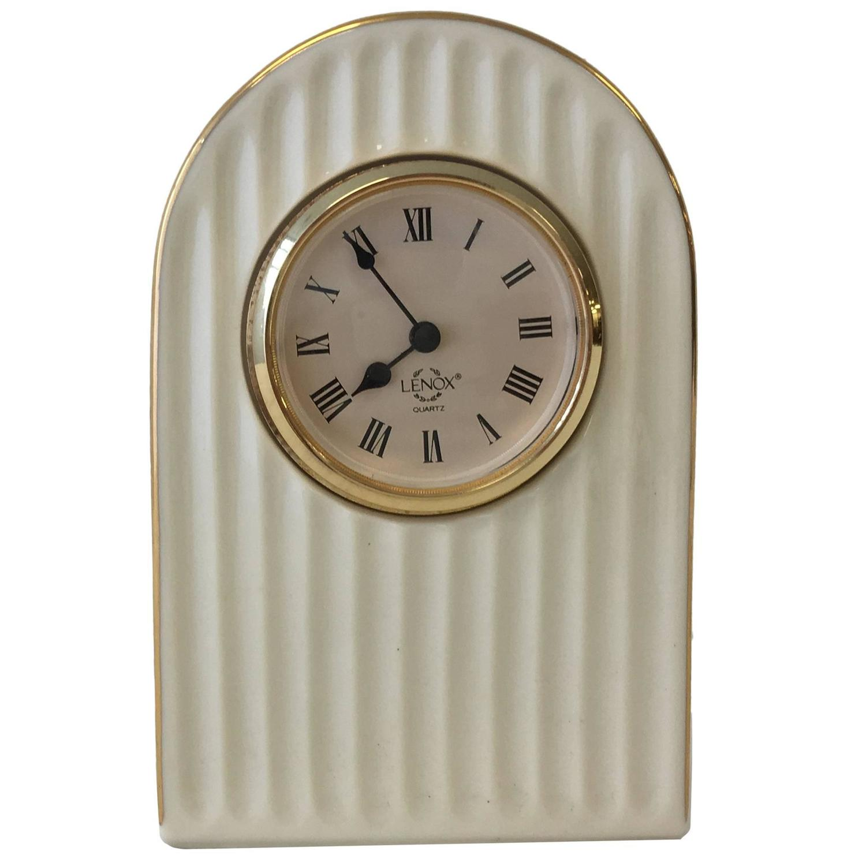 Lenox porcelain ivory art deco style clock with 24 karat gold trim lenox porcelain ivory art deco style clock with 24 karat gold trim at 1stdibs floridaeventfo Choice Image