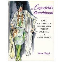 """Lagerfeld's Sketchbook, Illustrated Fashion Journal of Anna Piaggi """"Book"""""""