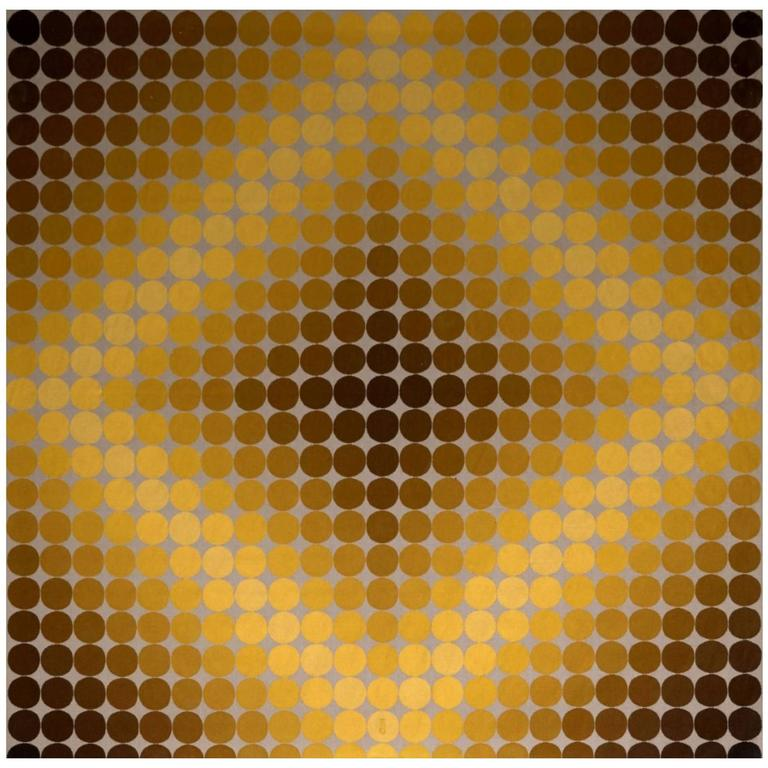 "Victor Vasarely ""Dia-Or"" Tapestry 1"