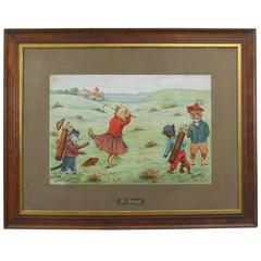 Cats Playing Golf, Pair of Humorous Golf Prints