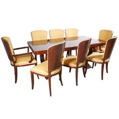 Art Deco Jules Leleu Mahogany Dining Set