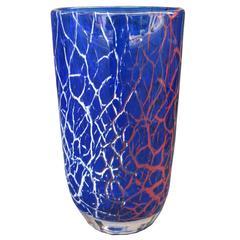 Seguso Designed Art Glass Vase
