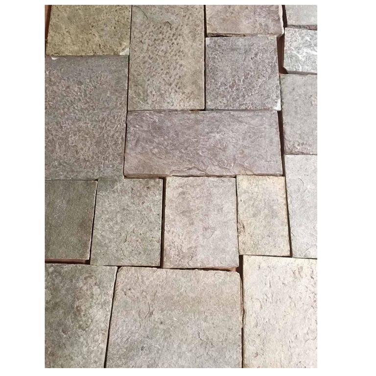 18th Century Reclaimed Green Quartzite Flooring For Sale