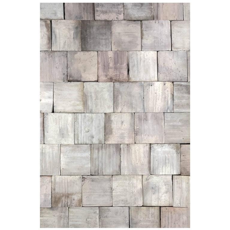 Antique Terracotta Square Pastel Flooring For Sale