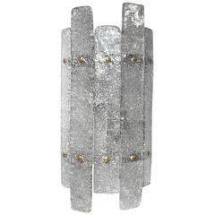 Italian Murano Glass Planks Sconce by Mazzega