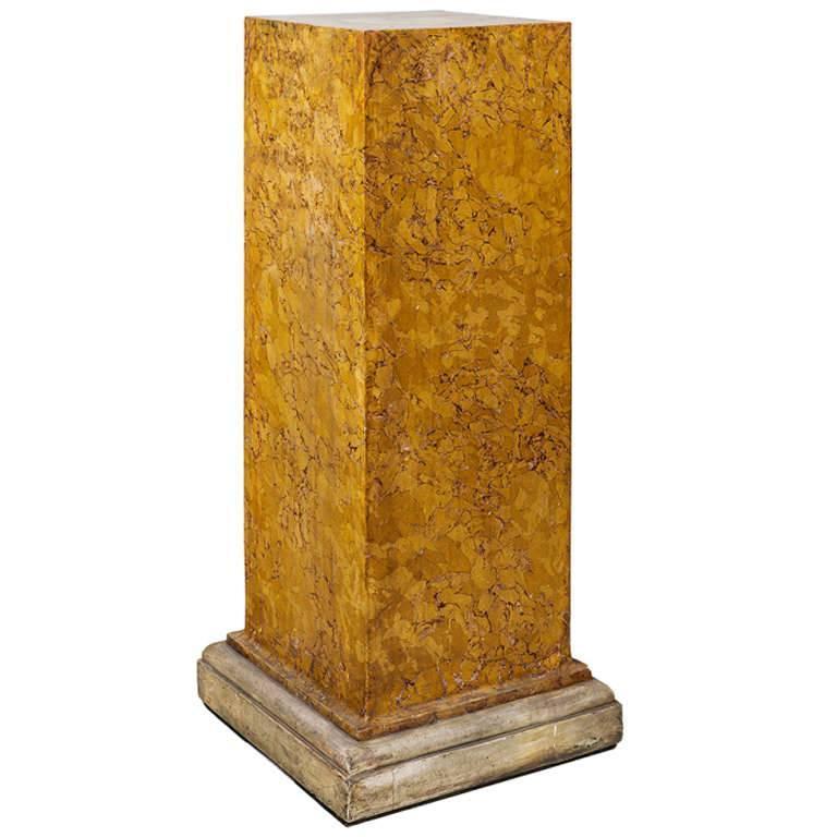 Early 19th Century Scagliola Column