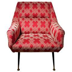 Angled Back Straight Arm Club Chair