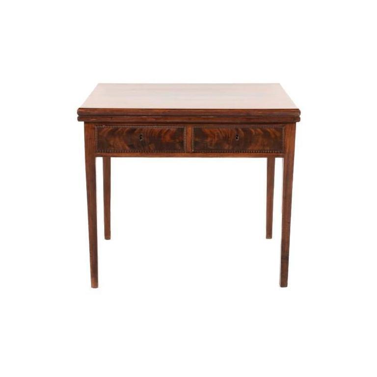 Small French Mahogany Writing Table or Vanity