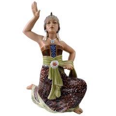 Rare Dahl Jensen, Denmark, Dancer 1208 Oriental Figure Sumatra Dancer