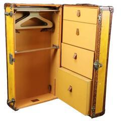 1930s Louis Vuitton Orange Wardrobe or Cabin