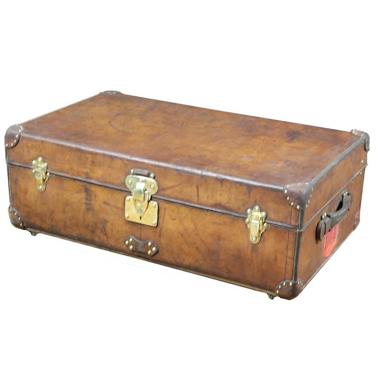 1900s Louis Vuitton Leather cabin Trunk