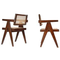 """Set of Two """"Office Cane Elegant Chairs"""""""