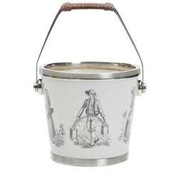 Scandinavian Silver Mounted Figural Ice Bucket