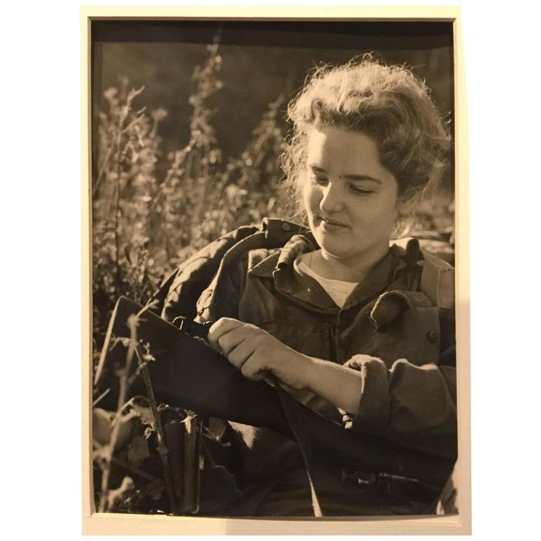 Korda Cuban Revolution Photograph of Woman Fighter
