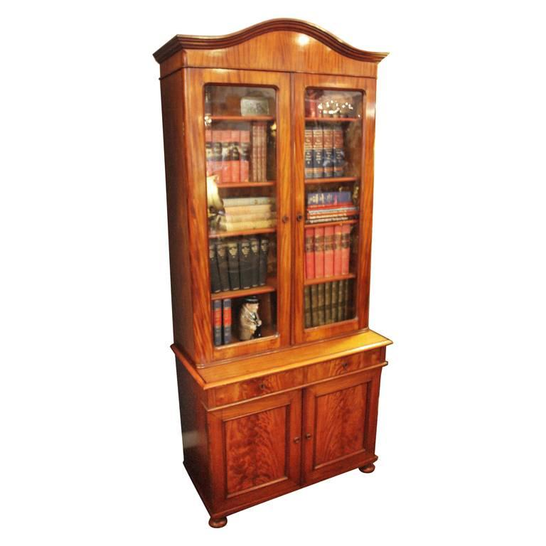 Scottish Two-Tiered Bookcase of Mahogany