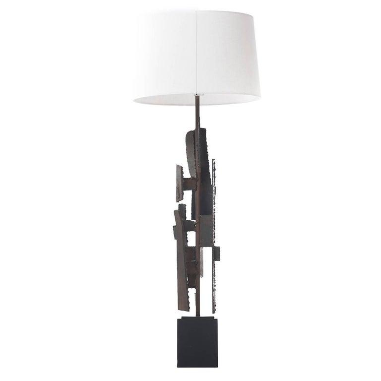 Mid-Century Modern Brutalist Lamp For Sale
