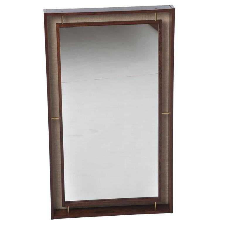 Danish Modern Rosewood Back Lit Mirror