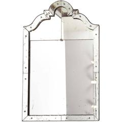 Art Deco Mirror with Antiqued Glass