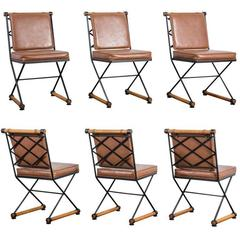 "Set of Four Mid-Century ""Directors Chair"" Dining Chairs by Cleo Baldon"