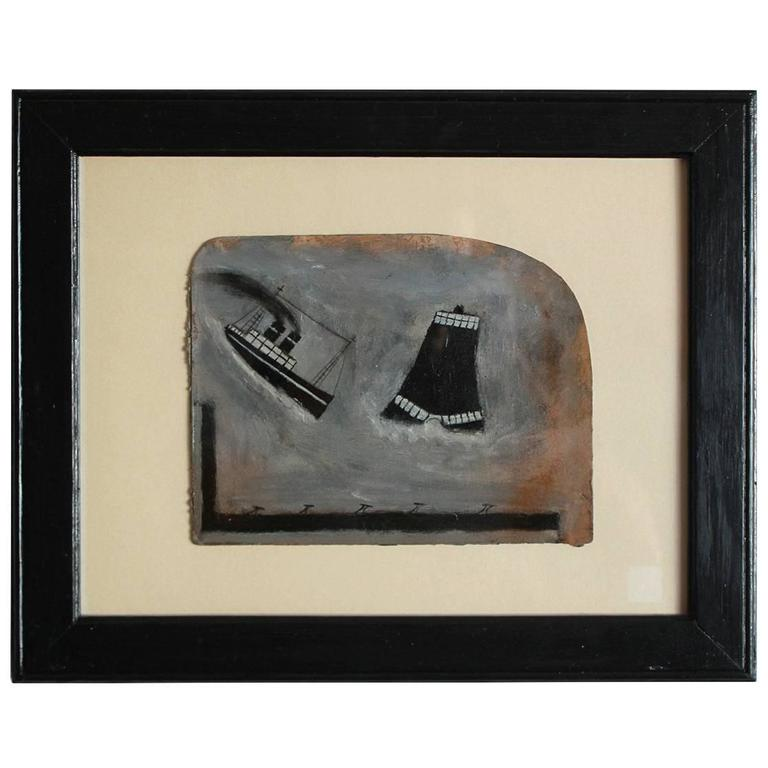 "Black Framed Naval Drawing by ""Old Jack"" 1"