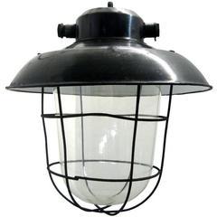 Brezno, Black Enamel Industrial Lamps