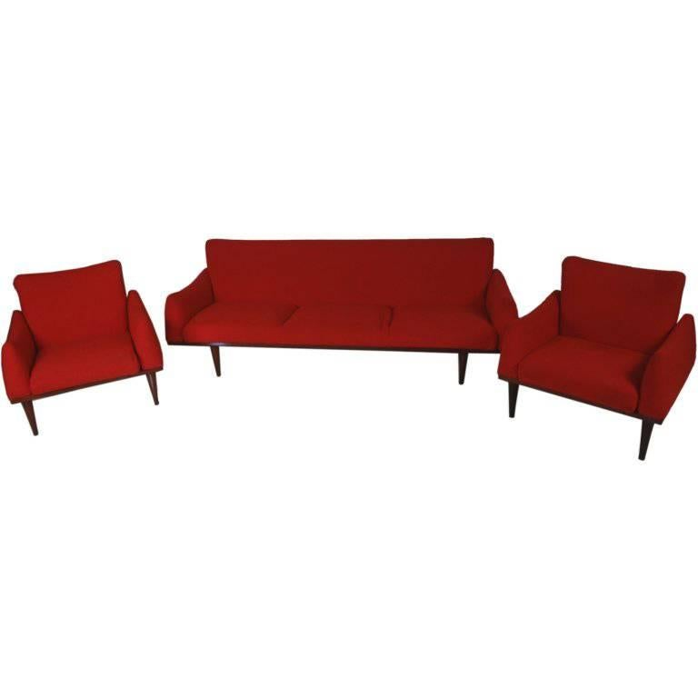Illum Wikkelsø Sofa and Chair Living Room Suite