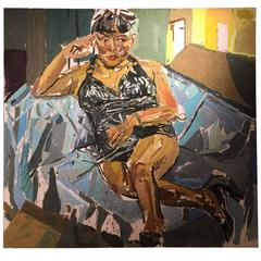Portrait of a Lady Oil Painting by New York City Artist Clintel Steed, 2005
