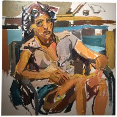 Portrait of Babs Oil Painting by New York City Artist Clintel Steed, 2011