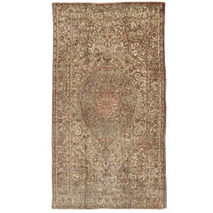 Antique Turkish Sivas Rug with Fine Weave and Intricate Design