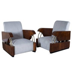"Pair of Vintage French Art Deco Period ""Normandie"" Armchairs, circa 1930"
