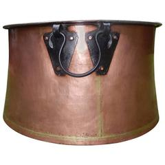 Monumental Over-Sized English Copper Cauldren