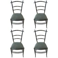 Four French Papier Mâché Chairs