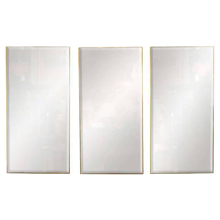 Mirror Wall Decor Set Of Three : Set of three decorative modern mirrors by la barge at stdibs