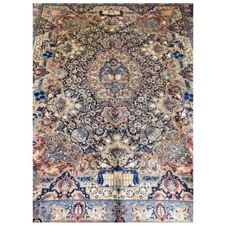 20th Century Vintage Persian Kachmar Carpet