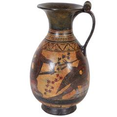 Ancient Greek Style Replica Pottery Wine Pitcher