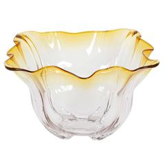 Frederick Carder for Steuben Glass 'Grotesque' Amber Bowl