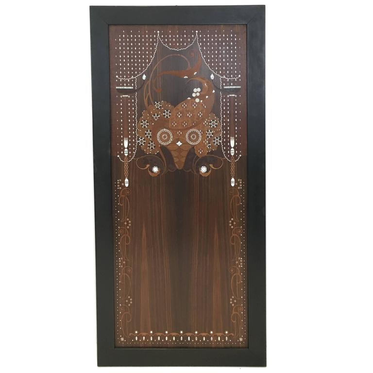 Jules Leleu Inlaid Wall Panel For Sale