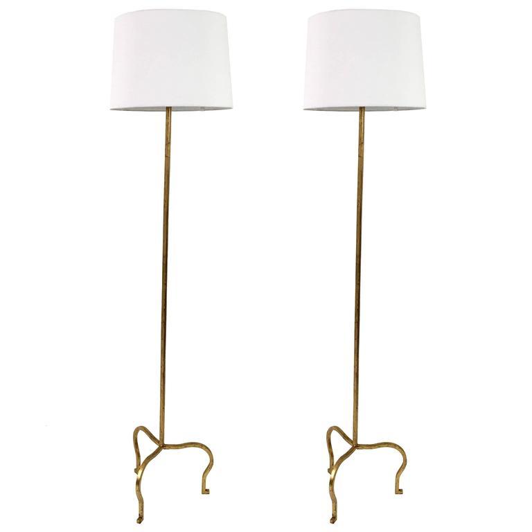 Maison Ramsay Gilded Iron Floor Lamps 1