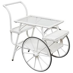 Wicker Drinks Cart