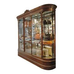 Large Ornate Mahogany Display Case