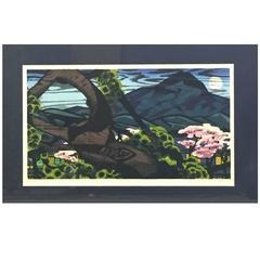 """Clifton Karhu Limited Edition Japanese Woodblock Print """"Kamigano"""""""