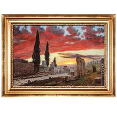 Viggo Langer, Evening Scene from Pompei, Italy