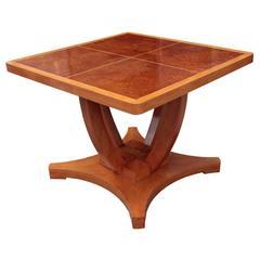 Austrian Art Deco Period Centre or Games Square Table