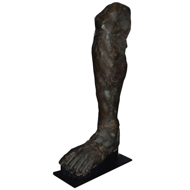 Bronze Sculpture of Male Leg