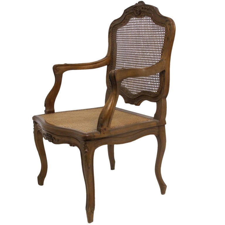 French Louis XV Style Fauteuil Armchair For Sale at 1stdibs