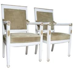 Pair of Directoire Armchairs
