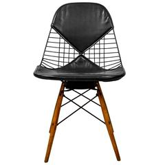 Eames DKW Swivel Side Chair with Bikini Cover for Herman Miller