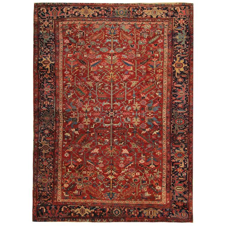 Antique Persian Rugs Carpet Rug from Heriz