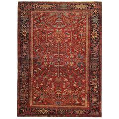 Antique Persian Rugs, Interior Carpet Floor Rug from Heriz