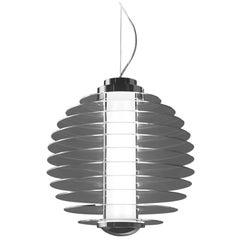 Gio Ponti Fontana Arte 0024 Suspension Lamp in Glass and Brass, Designed in 1932